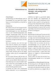 Estradiol in der Hormonersatztherapie - wie ... - Endokrinologikum