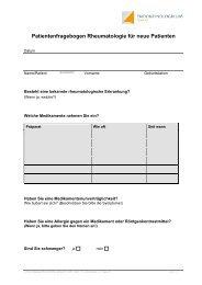 Patientenfragebogen Rheumatologie für neue ... - Endokrinologikum