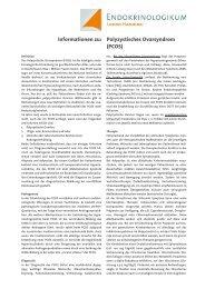 Informationen zu: Polyzystisches Ovarsyndrom ... - Endokrinologikum