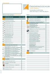 Materialanforderungsbogen Sarstedt-System - Endokrinologikum