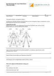 Fragebogen für neue Rheumapatienten - Endokrinologikum