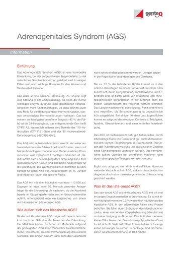 Adrenogenitales Syndrom (AGS) - Endokrinologikum