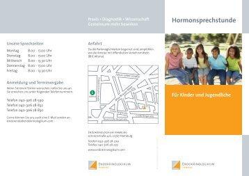 Patientenflyer Hormonsprechstunde für Kinder ... - Endokrinologikum