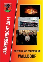 Jahresbericht 2011 - Feuerwehr Walldorf