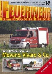 Movano, Vivaro & Co. Opel Rettungsfahrzeuge