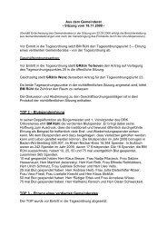 Protokoll vom 18.November.2009 - Nußloch