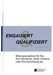 1. Halbjahr 2011 ENGAGIERT QUALIFIZIERT - Erzbistum Köln