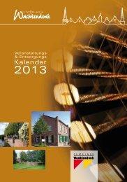 Veranstaltungs und Entsorgungskalender 2013 - in der Gemeinde ...