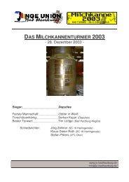 das milchkannenturnier 2003 - Junge Union Kreisverband Goslar