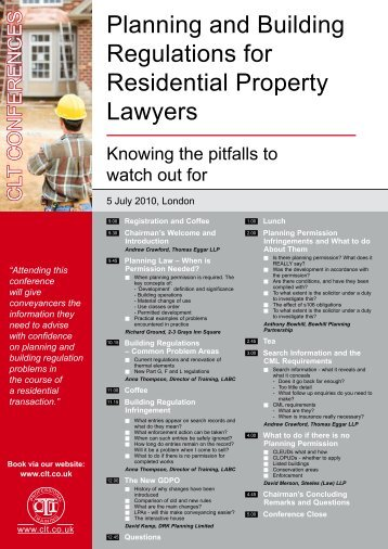 Planning and Building Regulations for Residential ... - DRK Planning