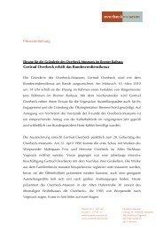 Pressemitteilung Gertrud Overbeck erhält das Bundesverdienstkreuz