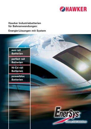 Batterien für Bahnanwendungen - EnerSys-Hawker
