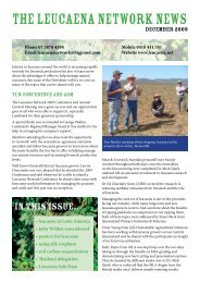 THE LEUCAENA NETWORK NEWS