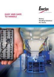 Sales brochure Batterie Handling - EnerSys-Hawker