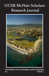 UCSB McNair Scholars Research Journal