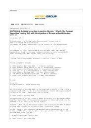 METRO AG: Release according to section 26 para ... - METRO Group