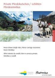 Private Pferdekutschen/-schlitten Pferdeomnibus - Engadin St. Moritz