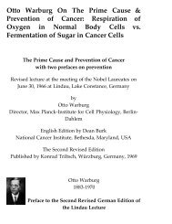 Otto Warburg On The Prime Cause & Prevention ... - Encognitive.com