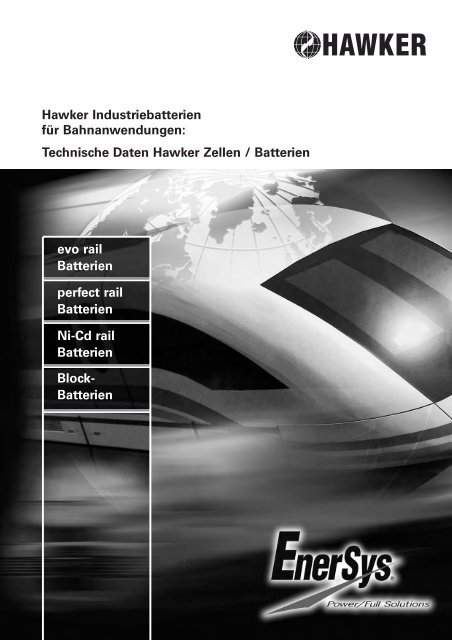 evo rail Batterien perfect rail Batterien Ni-Cd rail ... - EnerSys-Hawker