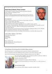 Associate professor Rune Larsson - Religionspedagogiskt idéforum