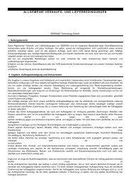 ALLGEMEINE VERKAUFS- UND LIEFERBEDINGUNGEN - Sebring