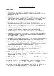 Priv.-Doz. Dr. med. Claus Franke: Publikationen: 1. C. Franke, Yang ...
