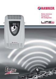 Datos técnicos Cargadores HF inteligentes - EnerSys-Hawker