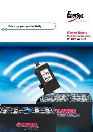Drive up your productivity! - EnerSys-Hawker