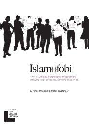 Rapport Islamofobi - Forum för levande historia