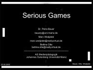 Serious Games - Johannes Gutenberg-Universität Mainz