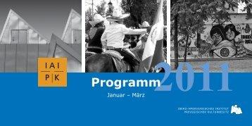 Programm - Ibero-Amerikanisches Institut