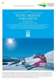 Flyer: Hotel Skipass inklusive - Engadin St. Moritz