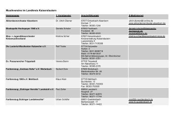 Musikvereine im Landkreis Kaiserslautern