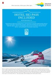 HOTEL SKI PASS INCLUDED - Engadin St. Moritz