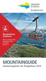 Mountainguide Sommer 2012 - Engadin St. Moritz