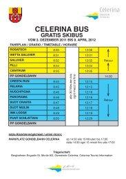 celerina bus gratis skibus - Engadin St. Moritz