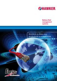 Download of sales brochure - EnerSys-Hawker