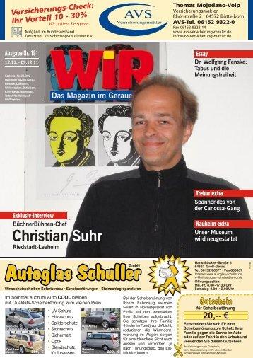 0 61 52 - 5 44 93 oder: 01 72 - Das WIR-Magazin im Gerauer Land