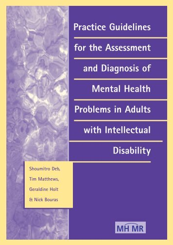 Practice Guidelines for the Assessment and Diagnosis ... - Estia Centre