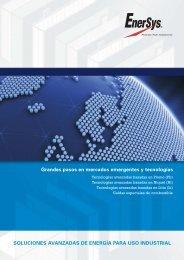 Grandes pasos en  mercados emergentes y ... -  EnerSys-Hawker