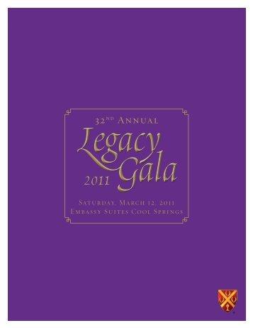 Legacy Gala program - Father Ryan High School