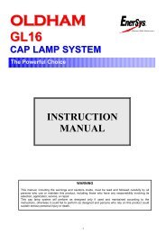 INSTRUCTION MANUAL - EnerSys-Hawker