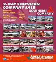 2-Day Southern Company Sale - ADESA Auctions