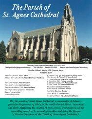 April 29, 2012 - Parish of St. Agnes Cathedral