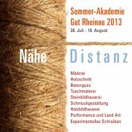 Programm 2013 - Sommerakademie Rheinau