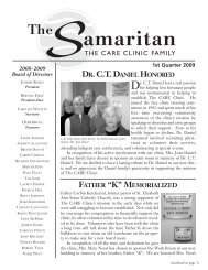 DR. C.T. DANIEL HONORED - CARE Clinic