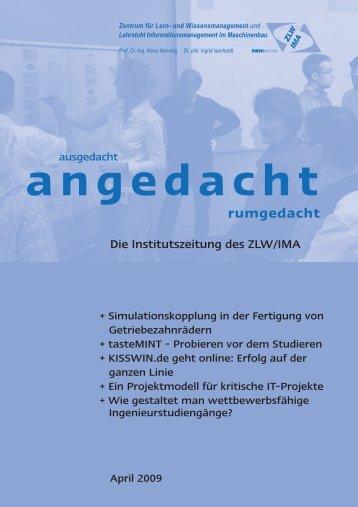 "schinen in Ditzingen ""Prozess-Diagnose"" - IMA,ZLW & IfU"