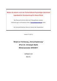 """Skript zur Vorlesung """"Versuchsplanung"""" (Prof. Dr. Christoph Stahl ..."""