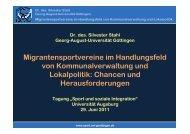 Chancen und Herausforderungen - Sportzentrum Universität ...
