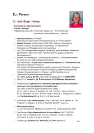 Zur Person - Dr. med. Birgit Hickey